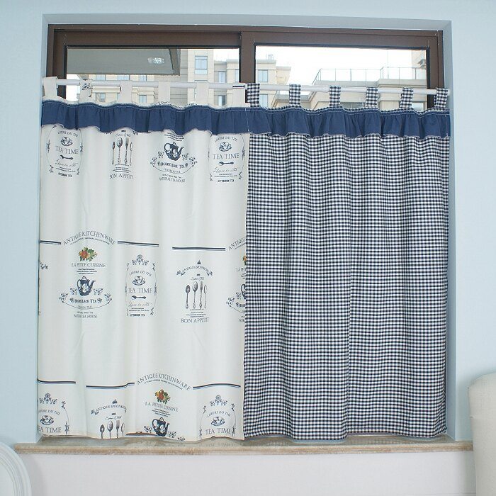 Fresh Bay Window Door Ply Process The Half Curtain Kitchen Curtains New Products Toilet Small
