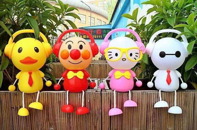 新款大白卡通闪光音乐灯光手提灯笼 元宵春节电动儿童玩具批发