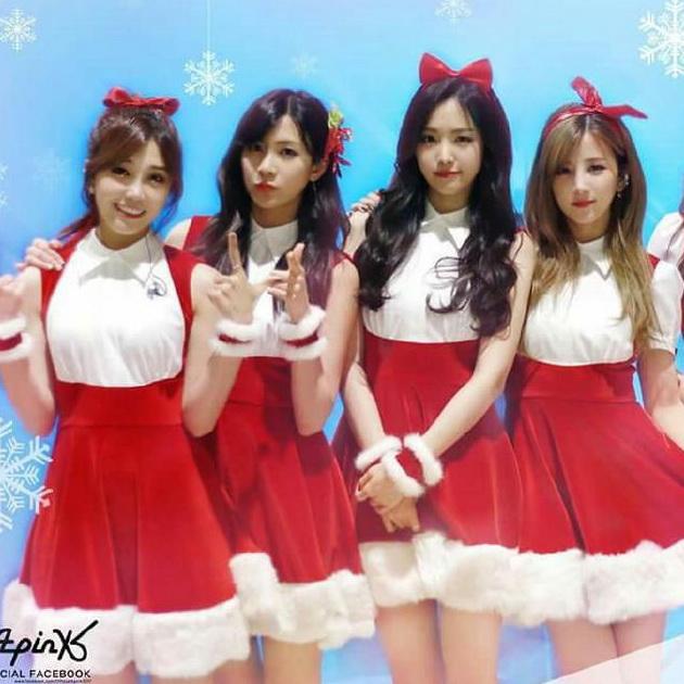Национальный  костюм Г-н Чу apink с большой Рождество ежегодной костюм партии партии танец юбка костюм женщин взрослых