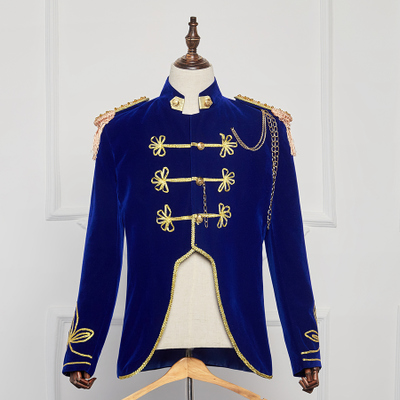 Men's blue court costume generals handsome costume drama costumes