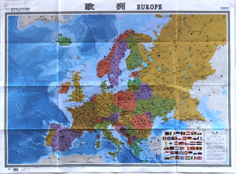 Usd 1040 2018 european map of the world hot countries map the 2018 european map of the world hot countries map the domestic publication of foreign language control gumiabroncs Images