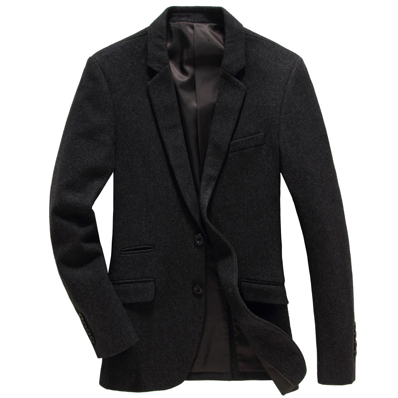 2015秋季新款外贸原单男士修身型小西装薄款小外套针织羊毛西服男