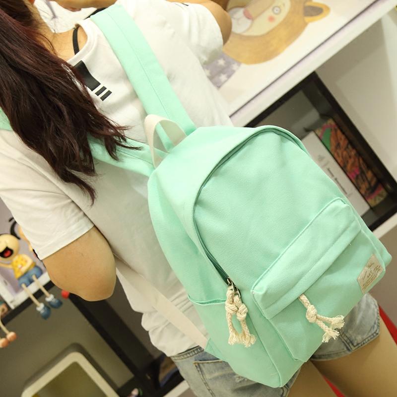 卡通樱桃小丸子涂鸦帆布双肩包韩版女学生书包休闲背包电脑包潮