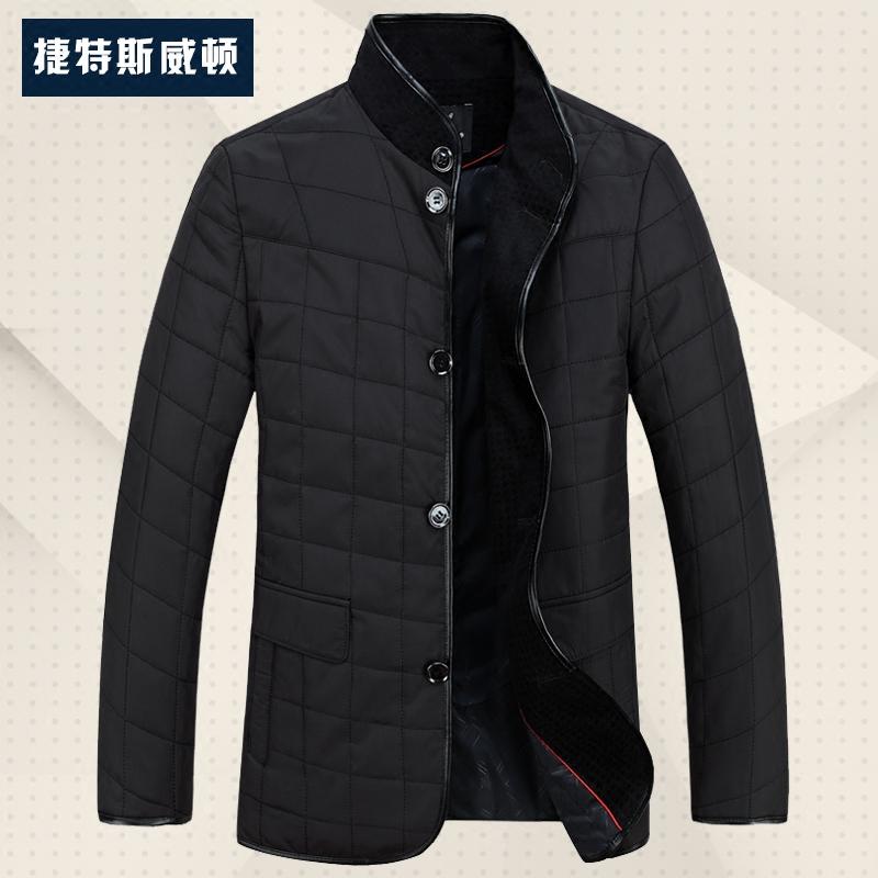 外套秋冬季爸爸男士加肥加大中年轻薄型棉衣棉袄装棉服40-50岁30