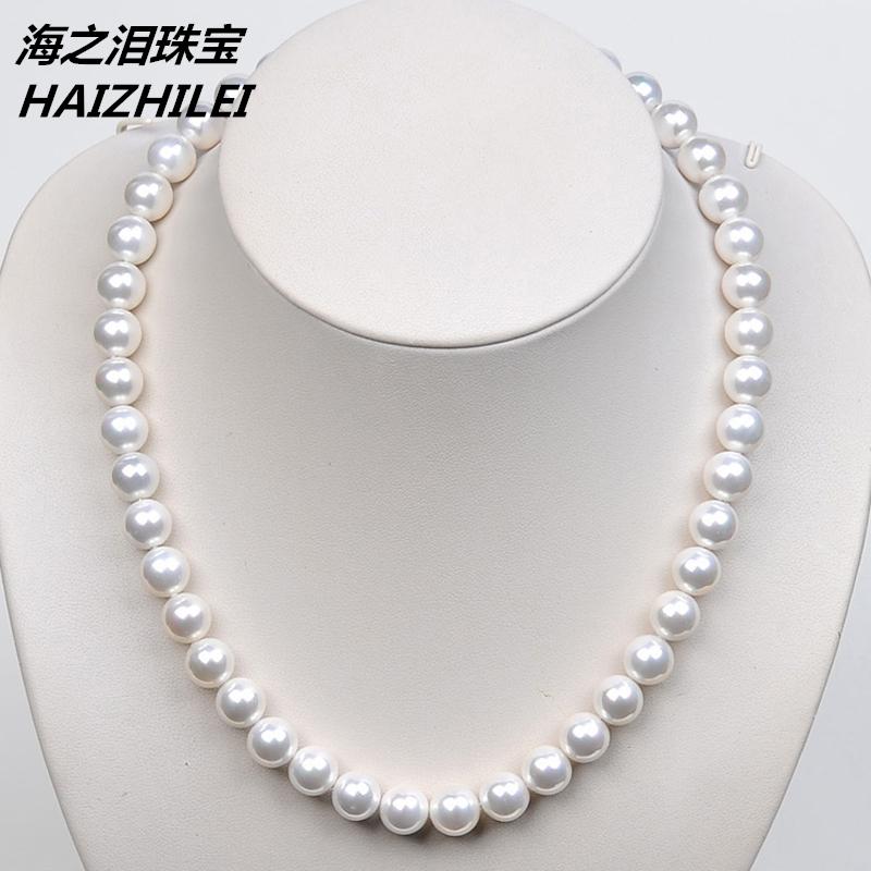 Естественные материнские бисер Наньян с жемчужинами ожерелье белый золото черный оригинал Zhengyuan без Цепь ключицы в подарок мама