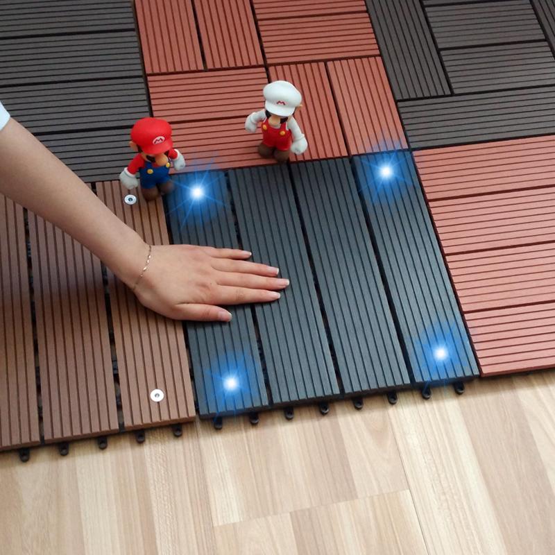 Plastic Wood Luminous Floor Outdoor