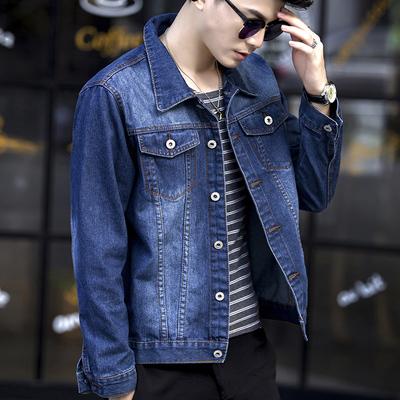 2018 người đàn ông mới của denim jacket nam Hàn Quốc phiên bản của tự trồng mùa thu lỏng áo khoác sinh viên áo khoác đẹp trai xu hướng 褂
