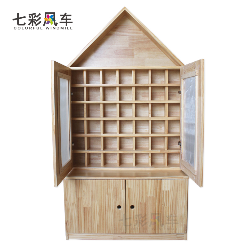 Kindergarten mouth Cup holder wooden water Cup holder children tea Cabinet wooden with doors and a  sc 1 st  ChinaHao.com & USD 154.11] Kindergarten mouth Cup holder wooden water Cup holder ...