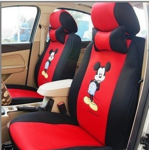 Summer Chang'an Volkswagen Han cute cartoon all-inclusive General Motors seat cover thickened sandwich women's chair cover.
