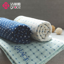 Jieliya towel, 2 pieces of pure cotton, Japanese gauze, soft and absorbent face washing towel, household towel for male and female lovers