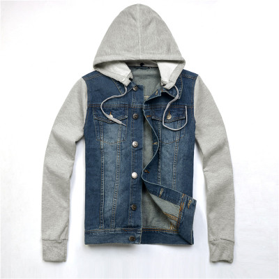 "Number 1 denim men denim jacket autumn Korean casual youth Slim coat men ""s shirt trend"