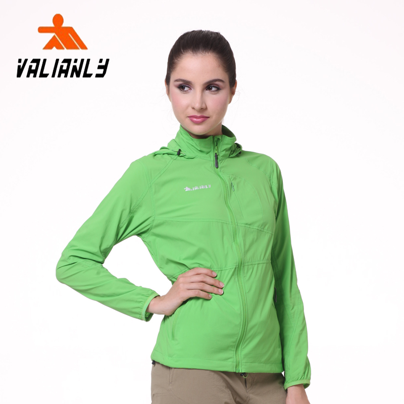 9cfae36da5 valianly outdoor skin clothing female large size anti-UV long section of  ultra-thin waterproof quick-drying sunscreen clothes