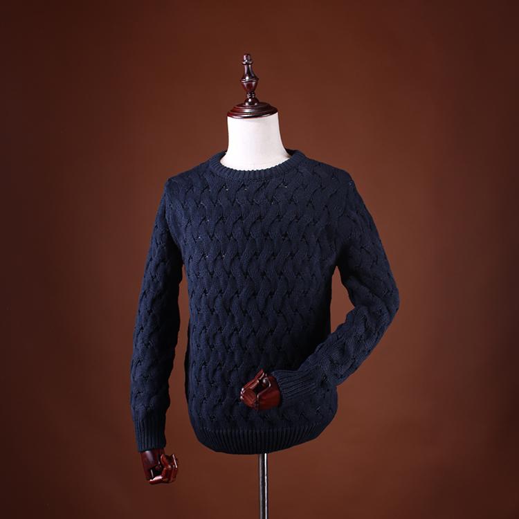 外贸原单男装国内单品牌剪标尾货基础百搭棉混纺针织毛衣开衫外套