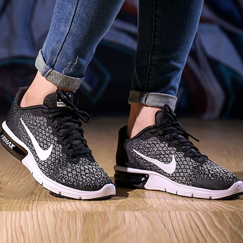 usd nike nike air max sequent 2 2017 new women 39 s cushioned running shoes 852465 002. Black Bedroom Furniture Sets. Home Design Ideas
