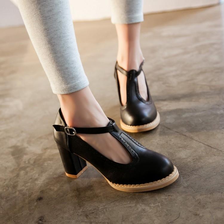 2016新款欧美风磨砂浅口尖头低跟粗跟高跟鞋性感丁字鞋单鞋女鞋潮
