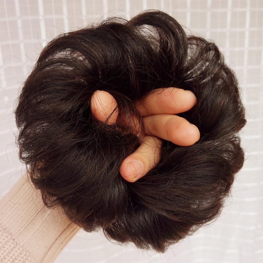 Вся правда человеческие волосы парик резинка для волос кудри пилюля глава парик пакет половина пилюля бутон бутон глава кудри круг волосы булочка