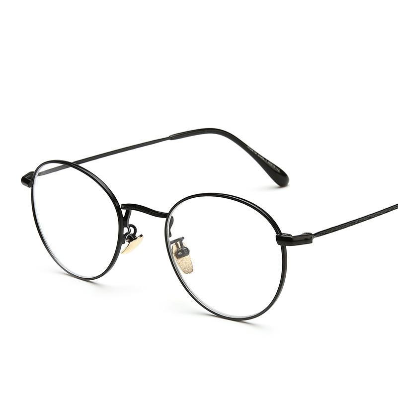 Laina retro college wind art retro metal can be equipped with myopia round  glasses small fresh flat mirror men and women models 32655575cc7