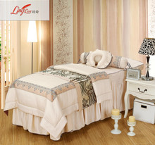 Lingling home textile solid color beauty bedspread