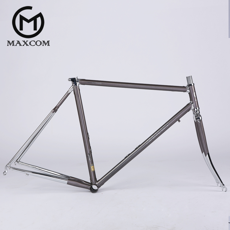 USD 431.16] Road bike frame chrome molybdenum steel 4130 three ...