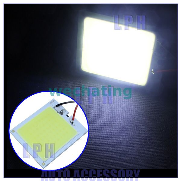 White 12W COB Chip LED Car Interior Light T10 Festoon Dome