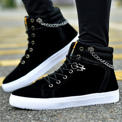 Emperor's star spring new high-top shoes men's thick bottom Korean casual shoes street dance shoes trend student shoes men