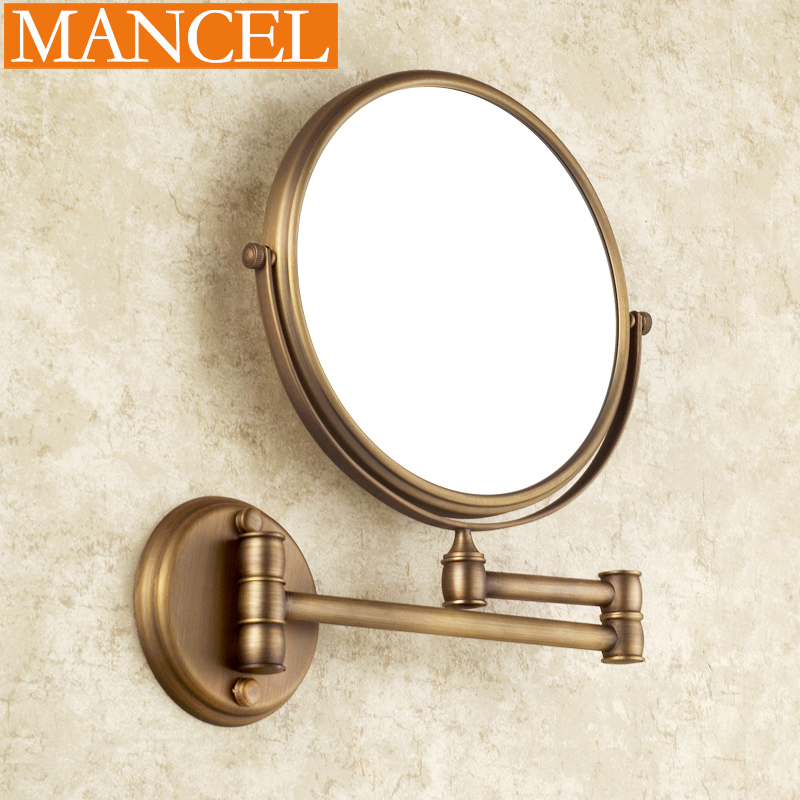 Mann Attitude Antique Mirror In The Bathroom Double Sided Retractable Wall Mounted Magnifying Glass