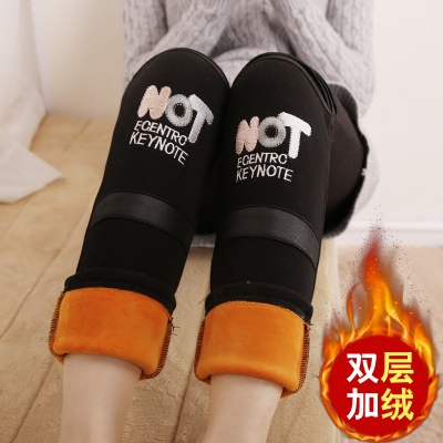 Girls Leggings plus velvet thick autumn and winter 7 casual trousers 9 Korean version of the children wear children's wear pants 5-12 years old