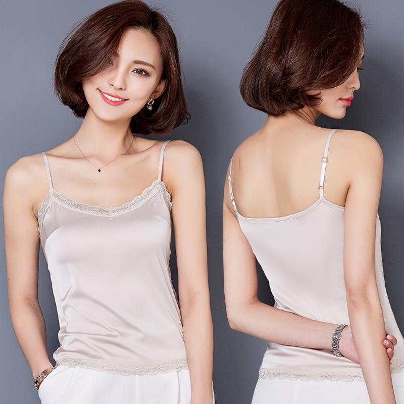 白色性感女春夏短款打底衫吊带小背心吊带内搭女蕾丝外穿小背心衫