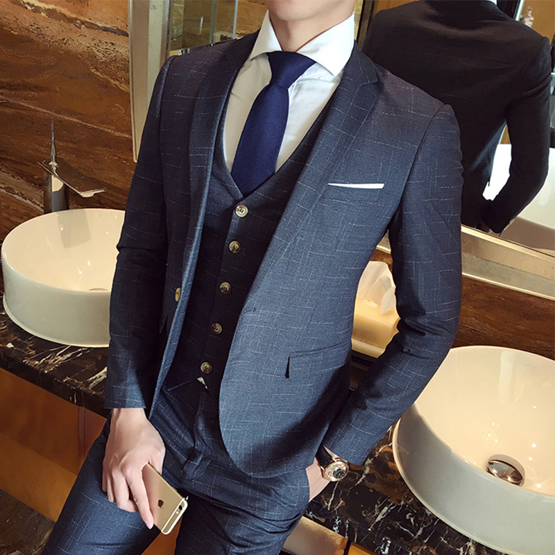 USD 234.12] Suits men\'s business professional casual dress three ...