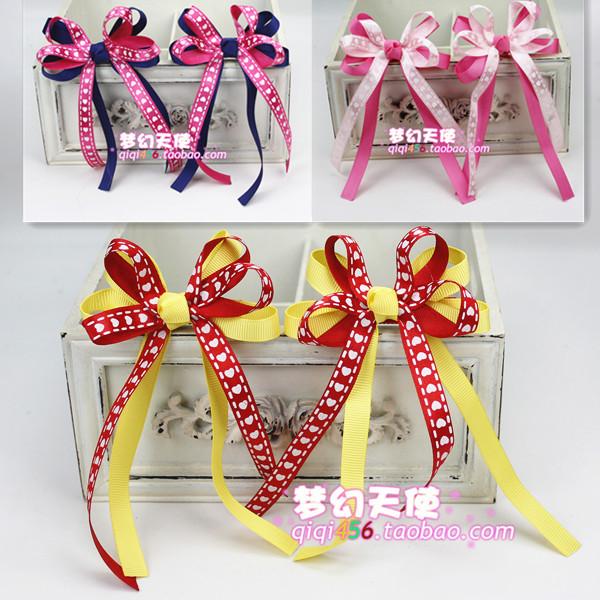 韩国婴儿童宝宝发饰头饰发夹发卡韩版头绳头花红色泡泡发绳