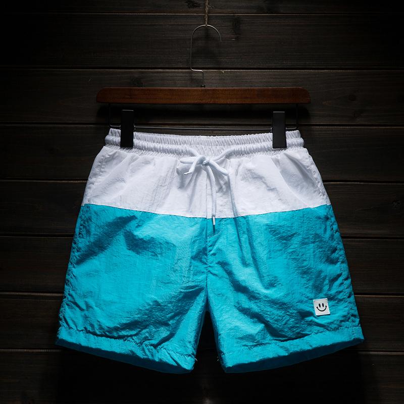 运动短裤男健身速干裤跑步三分裤透气裤子夏季男装拼接休闲3分裤