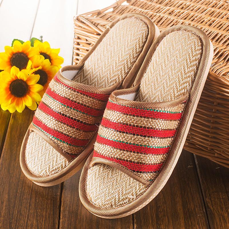 春秋布拖鞋家居布底拖鞋软底静音情侣居家室内男女木地板拖鞋冬