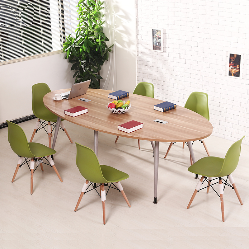 oval small conference table simple modern long table training table simple desk to discuss the combination - Small Conference Table