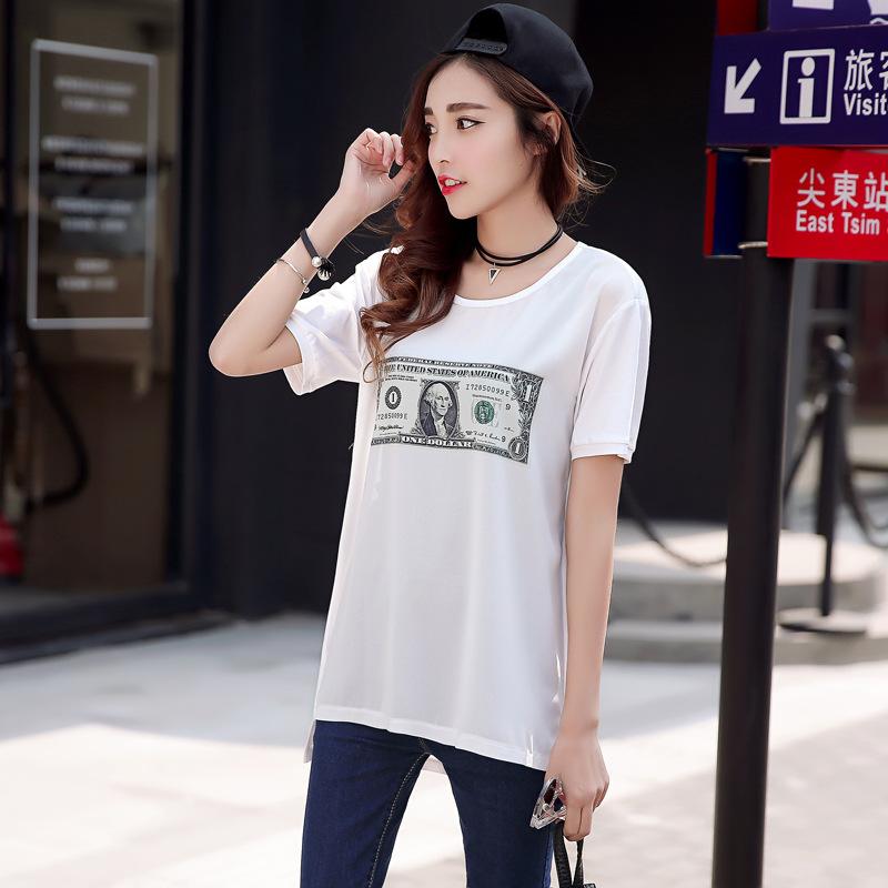 2016新款夏装短袖时尚韩版女式t恤女式短袖t恤阿里旺旺批发网