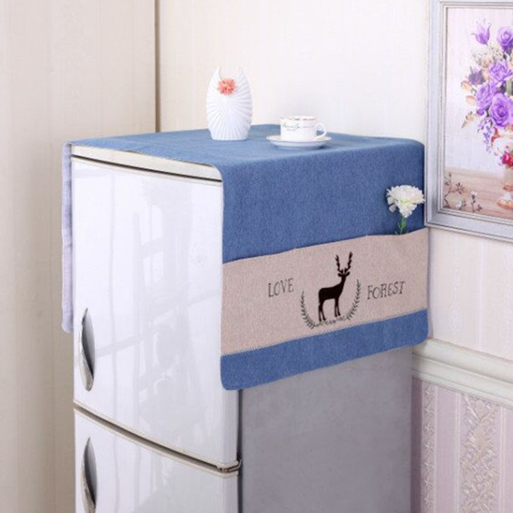Refrigerator cover towel single door dust cover double-door Refrigerator cover lace cloth cover cloth & USD 31.38] Refrigerator cover towel single door dust cover double ...