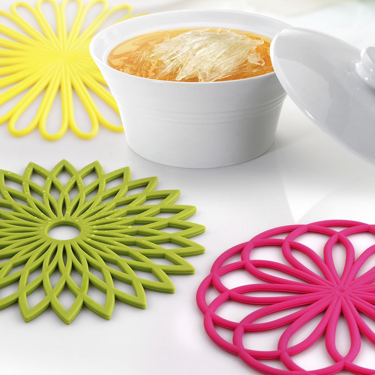 日用创意欧式不锈钢硅胶隔热垫碗垫餐垫餐桌垫锅垫杯垫盘垫防烫垫