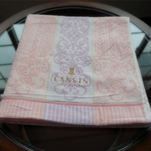 日本原单LANVIN en bleu红嘴唇厚帆布大容量手拿包化妆品包收纳包