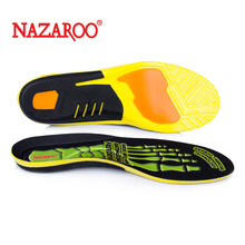 Pu elastic shock absorption sports insole breathable sweat absorption and odor proof arch support men's and women's basketball, badminton, military training and running