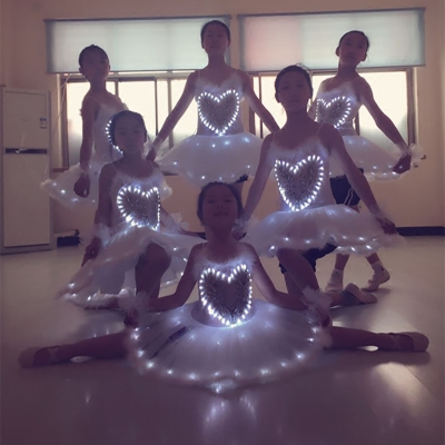 Led light illuminate dance clothes,Ballet costume,Children's performance clothing,Wedding costume
