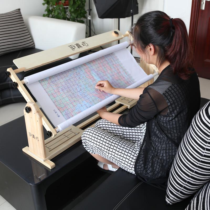 52 см 3 использование регулируемый сидеть стоять рабочий стол многофункциональный вышивка крестом вышивать полка дерево расширение твердый