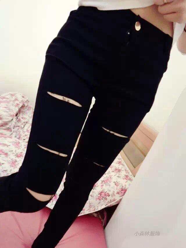 春秋女士打底裤外穿薄款低腰九分常规大码铅笔紧身皮裤小脚长裤子