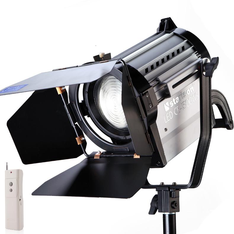 鑫威森LED150W影視聚光燈 調光攝像攝影燈光雙色溫補光燈替代鏑燈