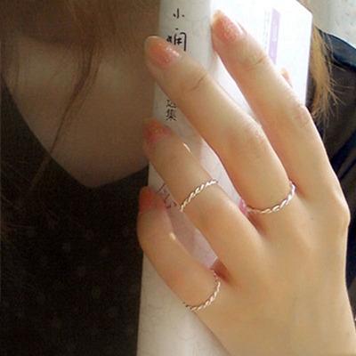 饰品麻花戒指食指女时尚尾戒小指韩版潮人情侣首饰对戒指环女