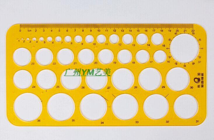 usd 5 84 round template ruler circular template ruler yellow round