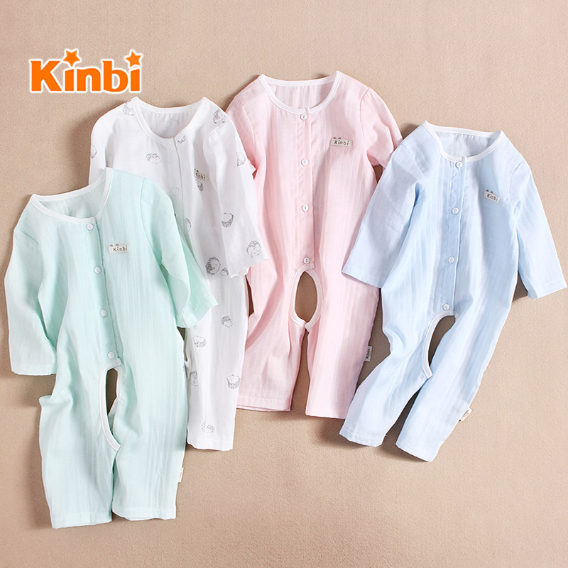 509ee284360d USD 31.89  Baby clothes cotton gauze jumpsuit spring and summer baby ...