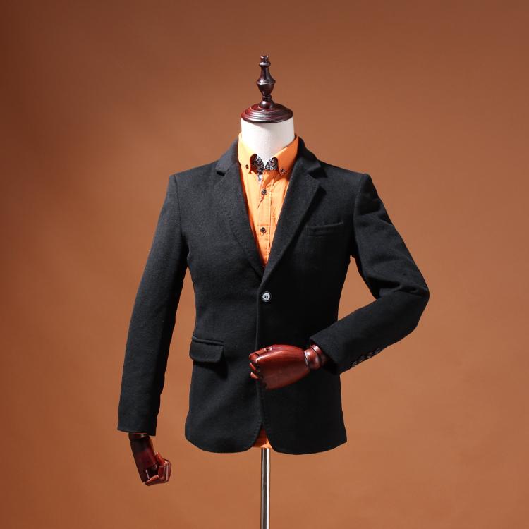 外贸原单大牌剪标专柜尾货 男士新款修身西服 精纺毛料防皱免烫