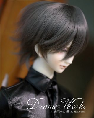 taobao agent BJD/SD 3 points 4 points Uncle doll wig hair/high temperature wire reverse curled short hair smoky gray 1/3,1/4