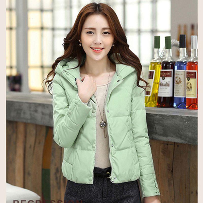MONEYJOJO短款羽绒服时尚超大毛领冬季加厚保暖夹克修身女装外套