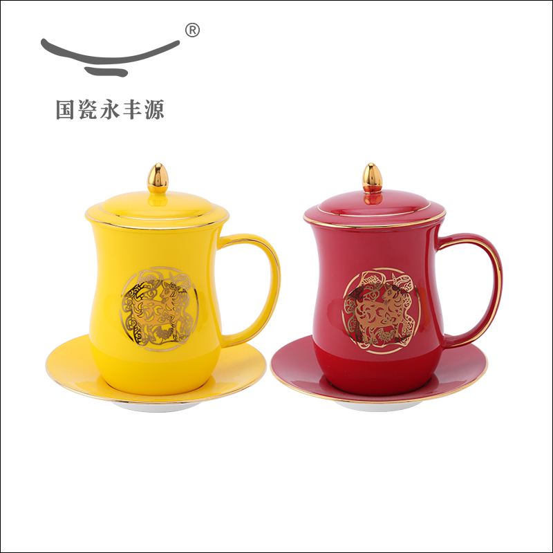 office cups. Auratic Yongfeng Source Sheep Bone China Tea Cups For Glass Ceramic Porcelain Office Cup Saucers With Lid Set