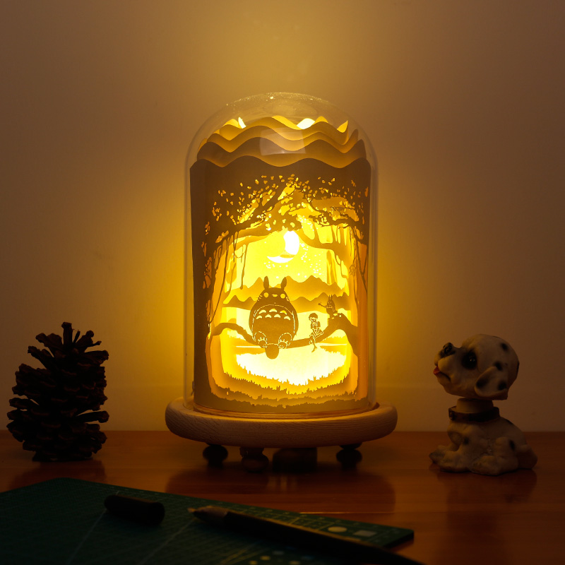 Cocoa Daisy Il Totoro Cellophane Carved Lamp 3d Lamp Creative Gift Lamp  Bedroom Bedside Night Light Birthday Gift